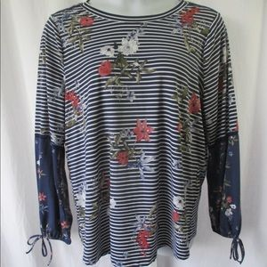 Fred David Knit Pullover Top Sz 1X Beautiful!